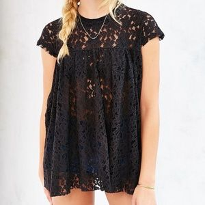 Urban Outfitters Kimchi Blue Black Lace Babydoll S